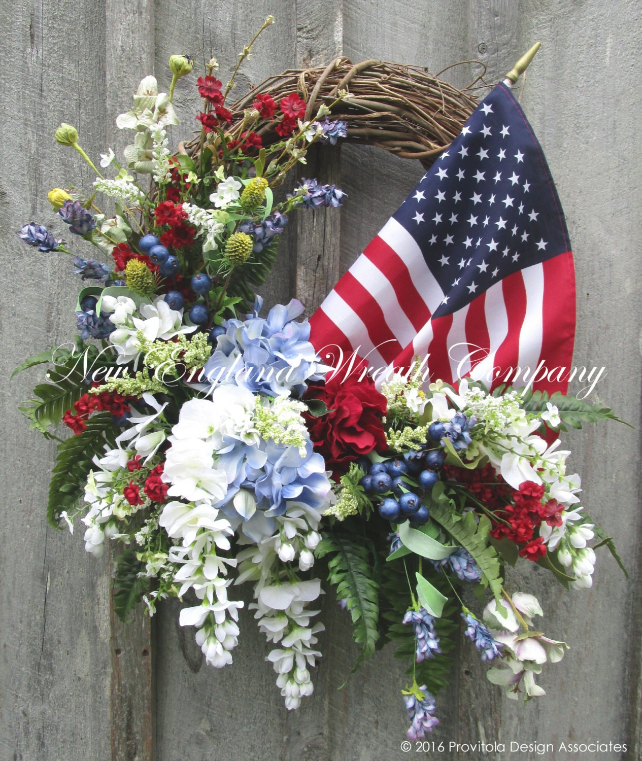 Patriotic Wreath Fourth Of July Wreath Memorial Day