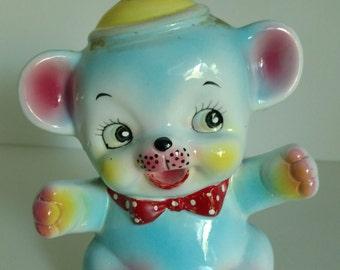 Vintage Kitsch Teddy Bear Bank