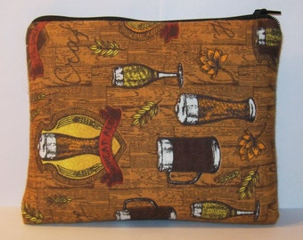 """Pipe Pouch, Craft Homebrew, Beer Bag, Padded Pouch, XL Pipe Bag, Zipper Bag, Pipe Cozy, Gadget Bag, 420 Gift, Padded Bag, 7.5"""" x 6"""" X LARGE"""