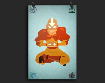 Avatar The Last Airbender - Minimalist Aang Poster
