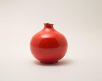 Deep Persimmon Bud Vase
