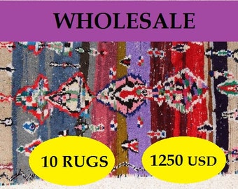 Special offer wholesale vintage boucherouite rugs, moroccan rugs , rag rug, berber tribal art, morocco carpets, wall art