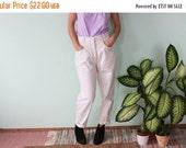 SALE Vintage 80's white high waist  Jeans Denim Pants