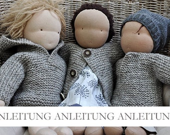 NATURKINDER Doll Hooded Sweater and Jackets (Three Designs)