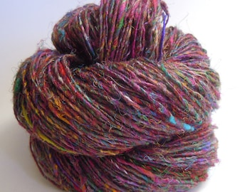 Sari Silk Single Ply Handspun Yarn 105g
