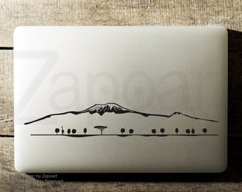 Kilimanjaro Skyline Sticker Decal Laptop Decal iPad