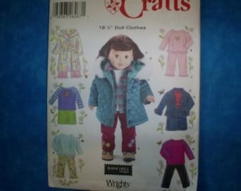 simplicity 5733 for 18 inch doll clothes.