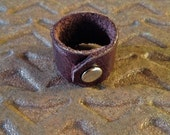 Soft Leather Ring - Dark Brown - Wrapped Around Ring - Cool Leather Jewelry for women and for men
