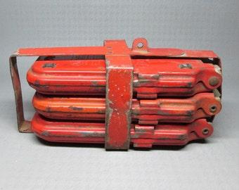 MIRO FLARE emergency road reflectors , set of three in their original holder ,  wichita kansas vintage auto automotive