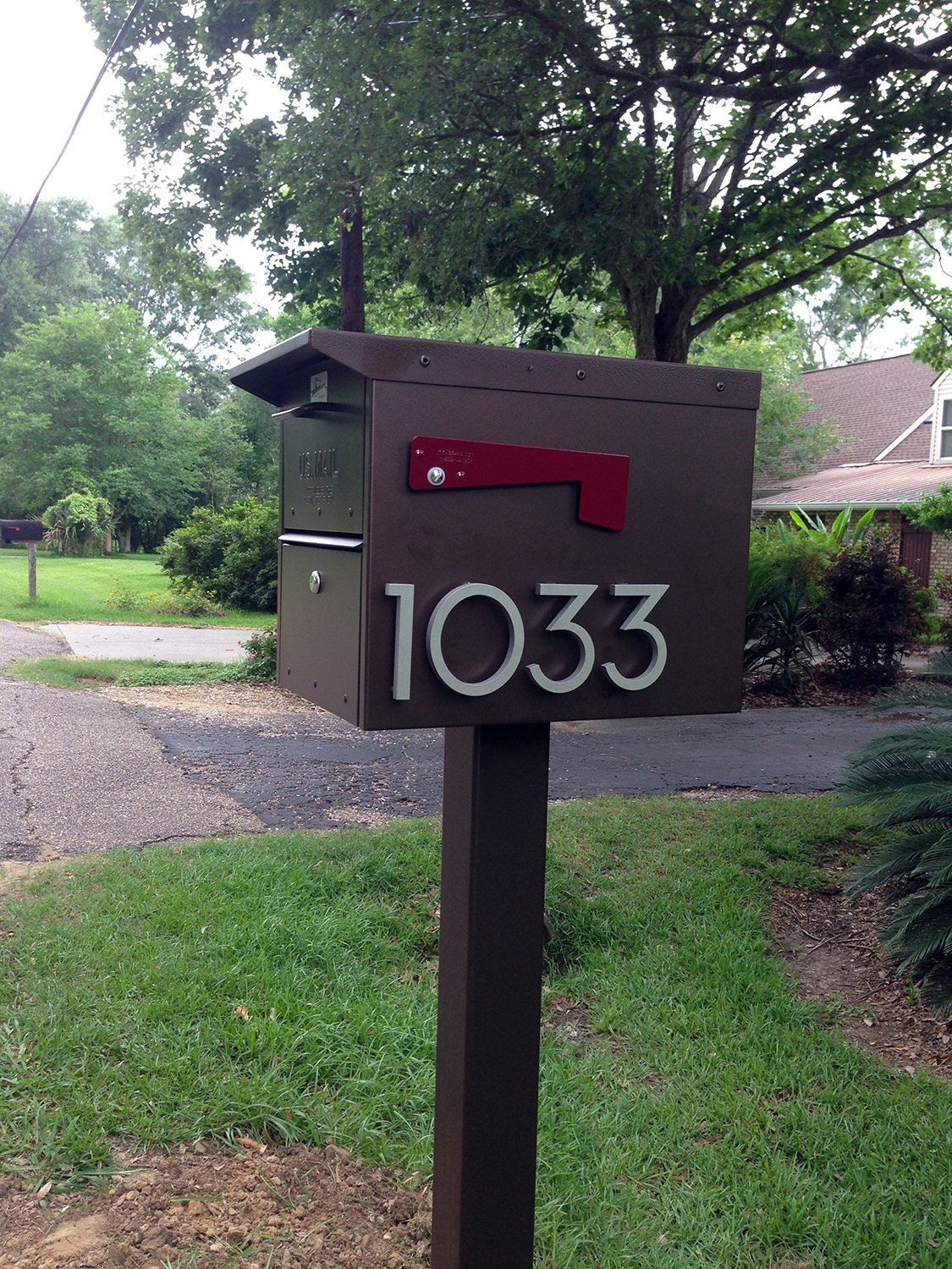 Modern House Numbers Aluminum Modern Font Number Eight 8