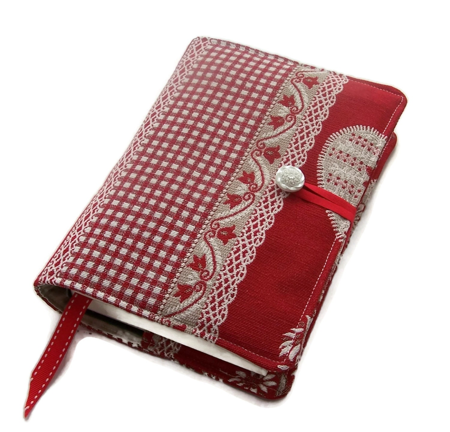 Book Cover Material : Fabric book cover journal jacket handmade bible swiss
