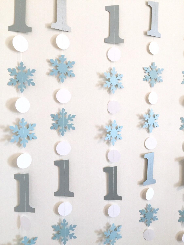 blue and silver winter birthday decorations onederland decor. Black Bedroom Furniture Sets. Home Design Ideas