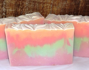 Island Nectar Scented Luxury Cold Process Rustic Soap with Shea Butter - Palm Free