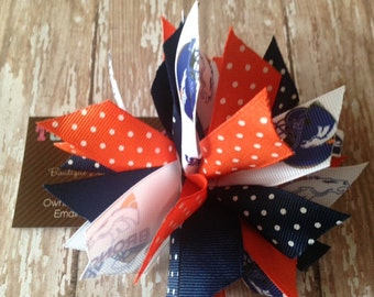 Bronco Spiked Puff Hair Bow