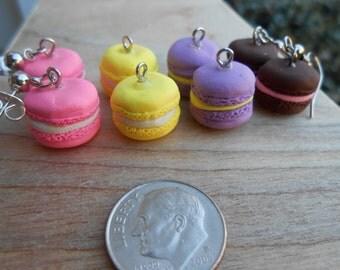French Macaron Dangle Earrings