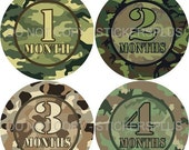 SALE Baby Month Stickers Monthly Baby Milestone Stickers PRECUT Bodysuit Stickers Monthly Stickers Plus FREE Gift Boy Camoflauge Camo Iii