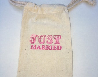 Just Married Party Favor Bags / Set of 30/Wedding Favor Bags