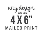 Printing Service - Any Design as 4 x 6 inches Art Print
