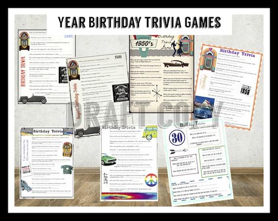 Year Birthday Trivia Game Birthday Party Trivia Instant ~ 220244_Birthday Party Ideas Quiz