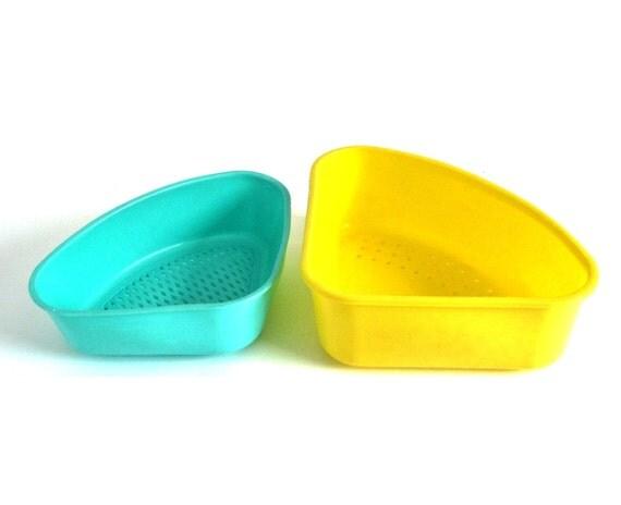 Corner Sink Strainer : Plastic Corner Sink Strainer Drainer Tray: Turquoise Lustro Ware L-100 ...