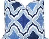 Thibaut Decorative Pillow Cover, Blue Trellis Pillow, Throw Pillow, Accent Pillow, Toss Pillow, Thibaut Cruising, Beachy Decor