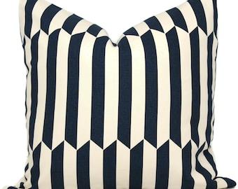 Schumacher Maxwell Stripe Decorative Pillow Cover, 18x18, 20x20, 22x22, 24x24, 26x26, Lumbar pillow, Throw Pillow, Accent Pillow, Cushion