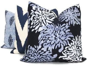 Decorative Pillow Cover Indigo SeaCloth Mum, Lee Jofa Pillow Covers Decorative Pillow Cover, Throw Pillow, Accent Pillow, Pillow Sham