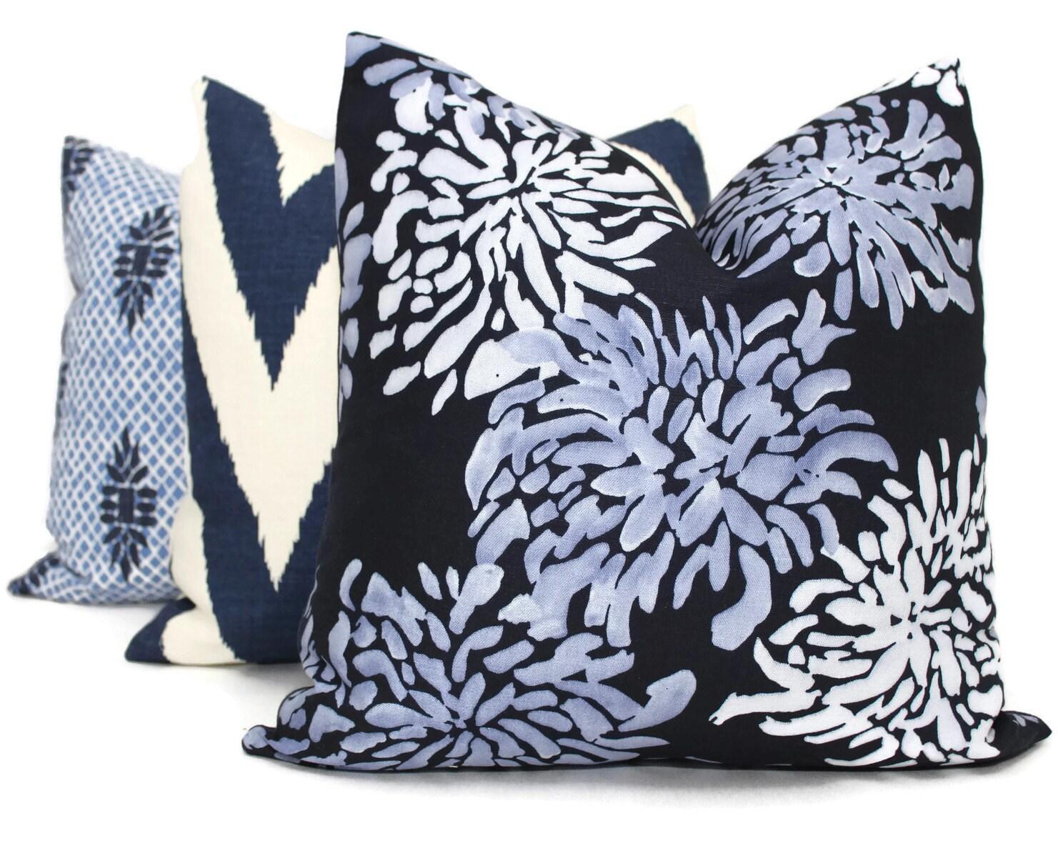 Decorative Pillows Indigo : Decorative Pillow Cover Indigo SeaCloth Mum Lee Jofa Pillow