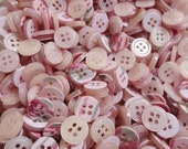 Baby Pink Buttons Pearl Bulk Lot Small 4 Hole 361 grams