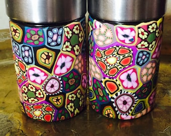 Multicolored Storage canisters