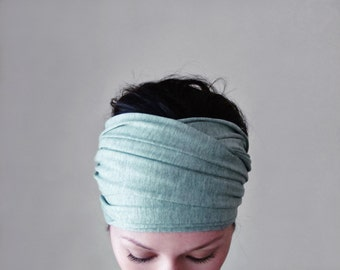 ICY MINT Yoga Headband - Extra Wide Head Scarf - EcoShag Hair Wrap - Womens Hair Accessories - Workout Accessory