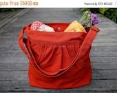 Summer Sale 20% OFF// FERN / Burnt Orange / Lined with Beige / Ship in 3 days // Messenger / Diaper bag / Shoulder bag / Tote bag / Purse /