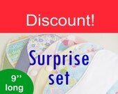 Discount on pantyliners 9'' - Surprise set of 5 - Washable - Reusable