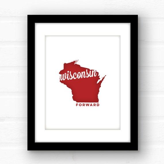 Wisconsin Art Wisconsin Home Decor Wisconsin Print
