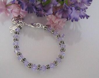 Violet Flower Girl Bracelet-Junior Bridesmaid Bracelet-Wedding Party Bracelet-Custom Flower Girl Bracelet-Flower Girl Bracelet-PurpleWedding