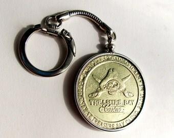 Treasure Bay Casino 1 Dollar Token Keychain Biloxi