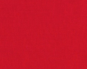 1/2 yard LAMINATED cotton fabric (similar to oilcloth) - 18 x 40 - Solid red - BPA free  - Approved for children's products
