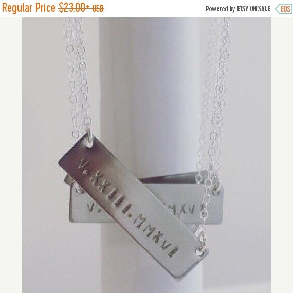 Roman Numeral Necklace Personalized Monogram By Viancamercedes