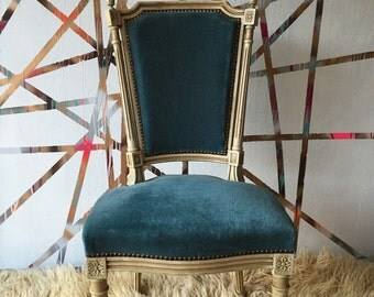 Stunning French Blue Antique Accent Nailhead Trim