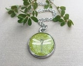 Dragonfly Necklace Art Pendant, Nature Jewelry, Mothers Day Jewelry