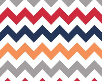 SALE - Flat or Fitted Crib Sheet - Boy Chevron
