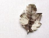 Custom made oak leaf brooch