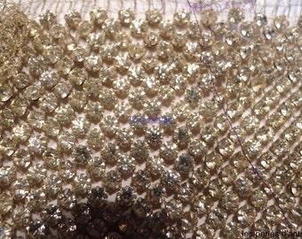 antique rhinestones/ 5mm diamond/fabric