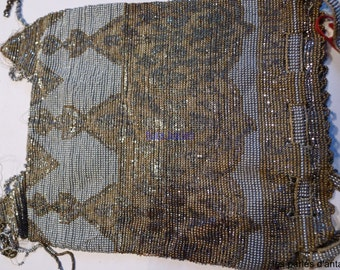 antique french steel cut beads / bag