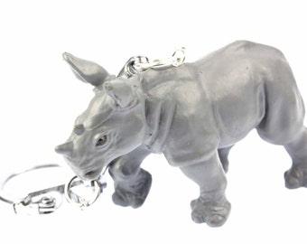 Rhino key chain animal Africa pachyderm