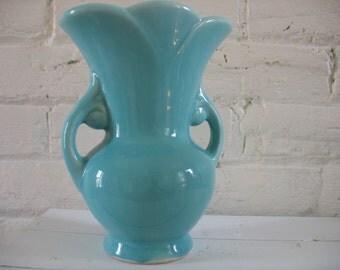 Vintage USA Pottery Vase - Blue