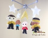 Baby Mobile - Baby Crib Mobile - Star Trek Mobile - Nursery Star Trek Space Mobile