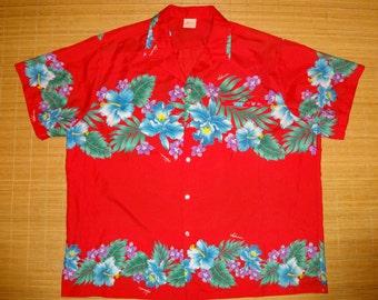 Mens Vintage 80s Kalena Fashions Hibiscus Floral Shirt - XXXL 3XL -  The Hana Shirt Co