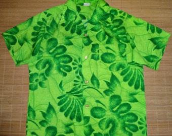 Mens Vintage 70s Mia Fashions Hawaiian Aloha Shirt - L - The Hana Shirt Co