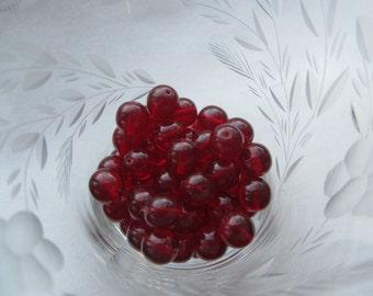 Czech Preciosa Smooth Round 10mm Garnet Beads 30Pcs.